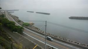 車窓からの海岸線