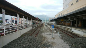 宇和島駅頭端式ホーム
