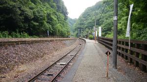 坪尻駅ホーム